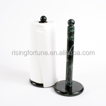 Green Marble Stone Paper Towel Holders