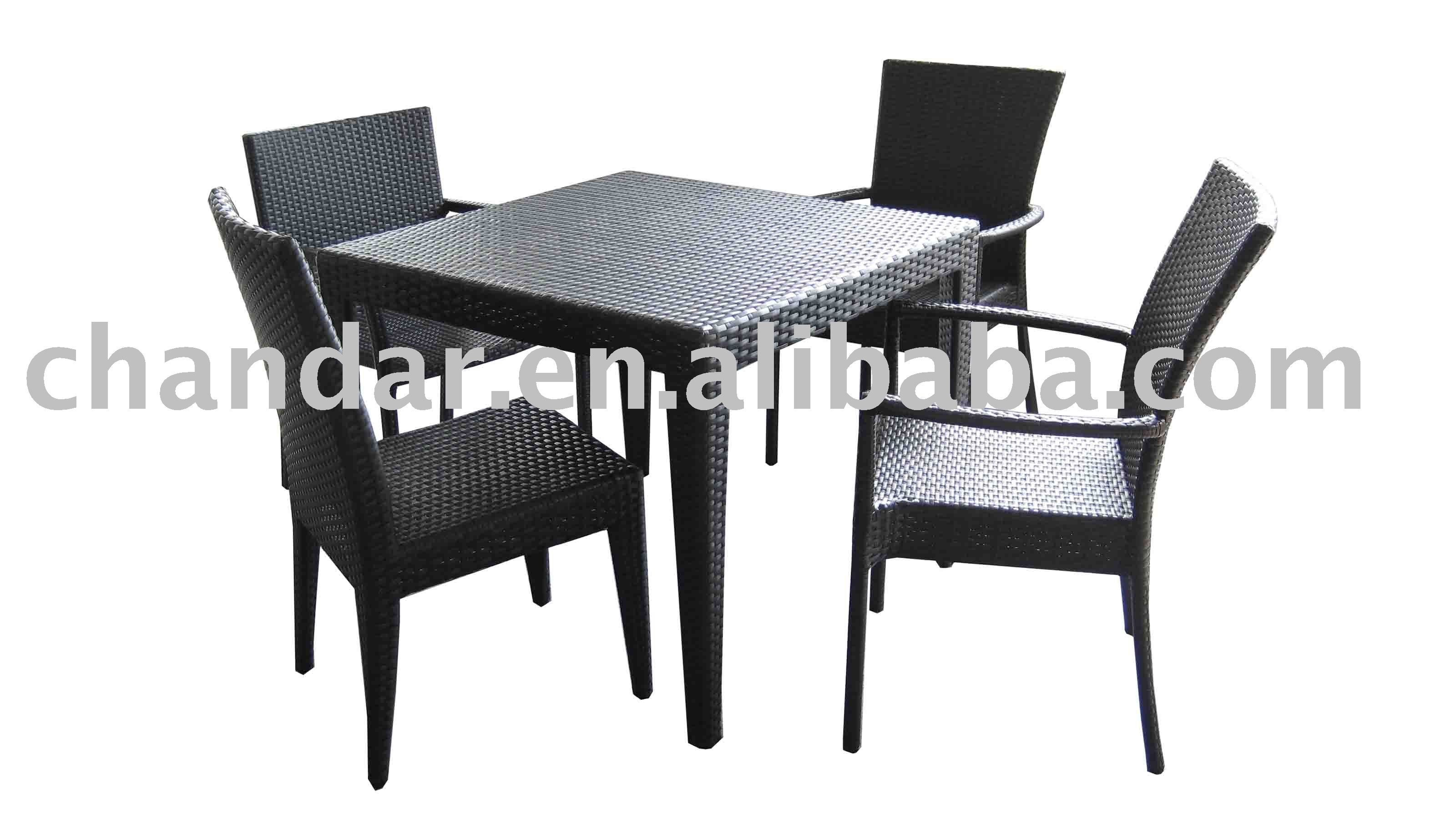 Outdoor table and chairs latest shop amazoncom patio for Dining room table with wicker chairs