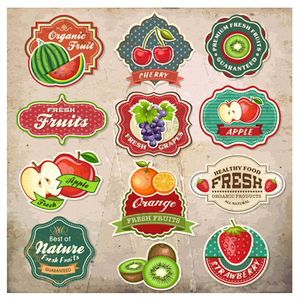 Custom fruit adhesive labels,high quality fruit packing stickers