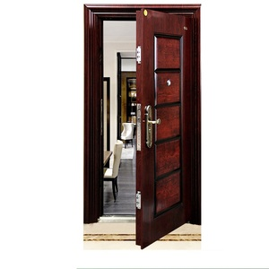 China supplier entry steel security flat safety door designs metal door