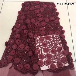 Handmade embroidery heavy beads guipure lace fabric with beaded high quality african net for party pearls bridal