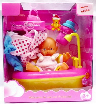 Lucu bermain untuk anak-anak plastik panas boneka bayi mandi mainan set  dengan EN71 591eb0afbf