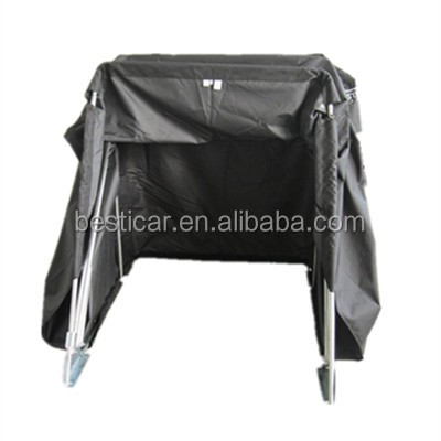 New Black Coating Waterproof Bike Motorcycle Cover 600D Oxford Black Sray Frame Motorcycle Storage Cover