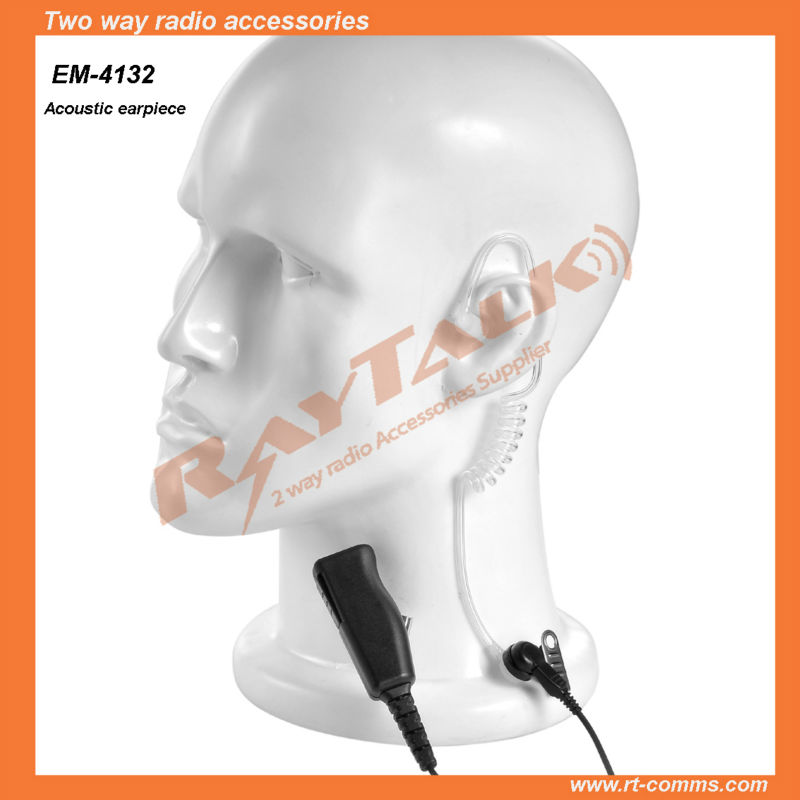 Two way radio <strong>communications</strong> acoustic ear tube earpiece