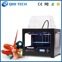 2016 Newest High Quality QIDI TECH Dual extruder 3D Printer with upgraded 7.8 version motherboard W/2 free ABS PLA filaments
