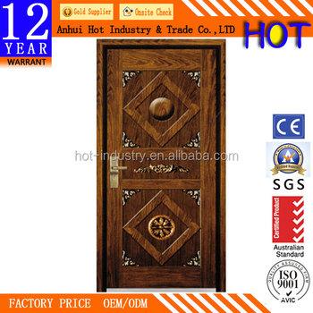 Unique Design India Style Fashion Steel Security Door Interior Bathroom  Bedroom Soundproof Door