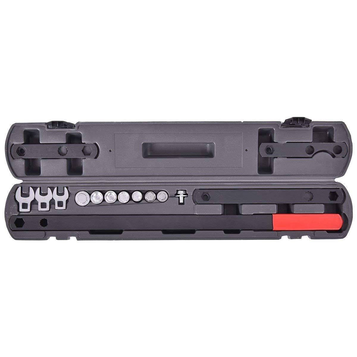 CHOOSEandBUY 16 pcs Wrench Serpentine Belt Tool Kit Automotive Repair Set Sockets