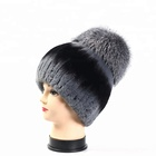 New Fashion Knitted Rex Rabbit and Fox Fur Hat