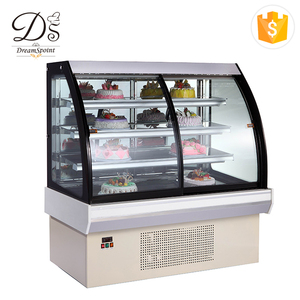 High quality energy conservation luxury 4 layers refrigerator fan cooling small cake display chiller