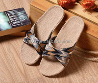 Wholesale summer shoes slipper ladies bamboo slippers