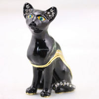 dog shape jewelry box metal jewelry box ring and necklace jewelry box