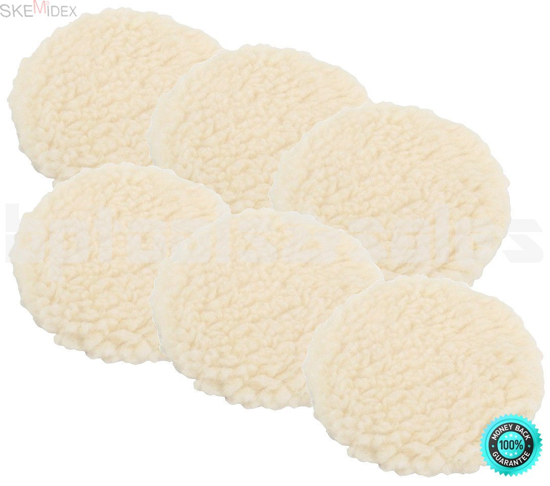 """SKEMiDEX---Lot of 6 - 7"""" Polishing Bonnet Car Polisher Buffing Pads Elastic Band. Elastic band attachment and removal. Soft material, made of special clean effect and easy to clean"""