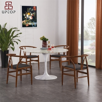 Sp Ct664 Modern Restaurant Round Marble Dining Table And Chair