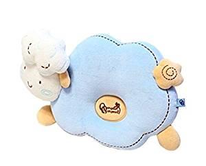 Kangkang @ Newborn Baby Anti-roll Pillow Prevent Flat Head Pillow BLUE Sheep The baby to finalize the design pillow