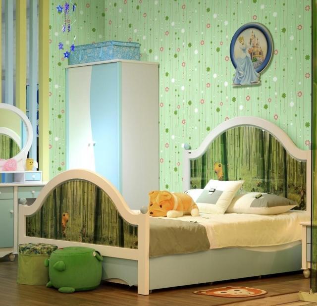 Child bedroom wallpaper girls room flower stripe wallpaper - Pink and white striped wallpaper bedroom ...