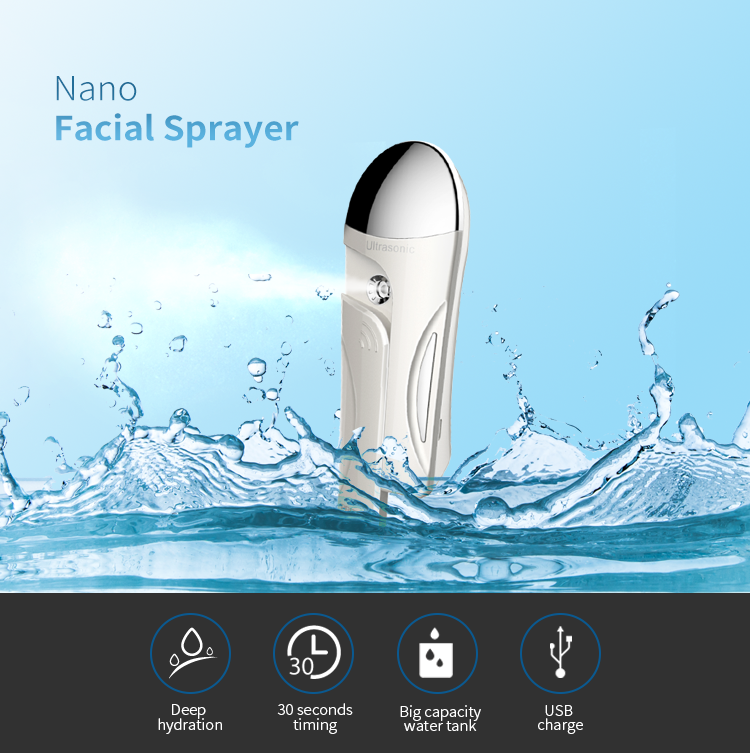 Color Customized 20ml Large Capacity Sink Nano Facial Sprayer Portable