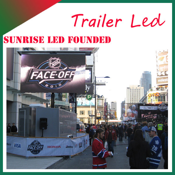 Sunrise Energy saving full color HD LED video display screen full colour mobile led display board on truck