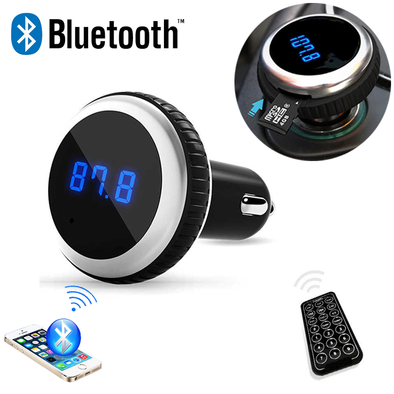 car mp3 audio player bluetooth fm transmitter with remote. Black Bedroom Furniture Sets. Home Design Ideas