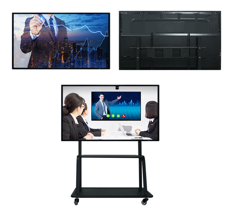 65 inch Intelligente White board LCD Touch Screen All-in-One PC Android Systeem Slimme Klasse Interactieve Whiteboard