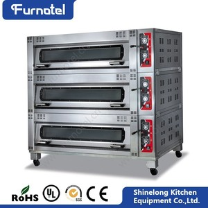 Good Price Commercial Restaurant Gas/Electric Baking Ovens 3 Deck Oven