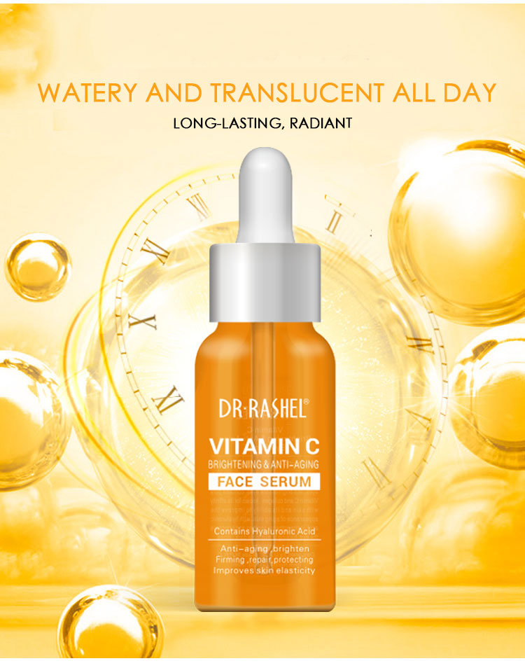 DR.RASHEL Brightening Anti Aging Hyaluronic Acid Vitamin C Whitening Face Serum