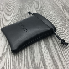 Custom Black Embossed Leather PU Packaging Pouch