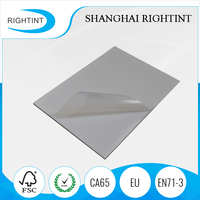 100mic transparent adhesive paper for inkjet