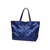 low price Shenzhen trendy PU blue basics cosmetic bag