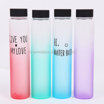 voss water glass bottle wholesale with plastic cap glass water