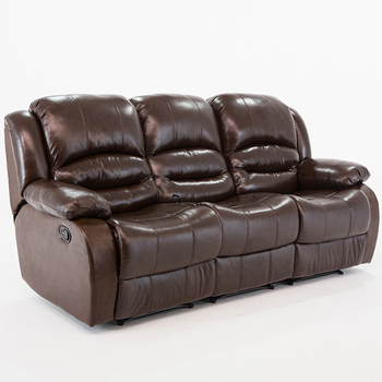 Furniture Leather Set Kuka 3 Seater Recliner Sofa