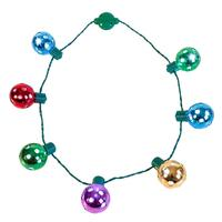 LED Shine Through Party Disco Balls Necklace with crystal ball for Mardi Gras, Christmas, New Year, Halloween, Birthdays