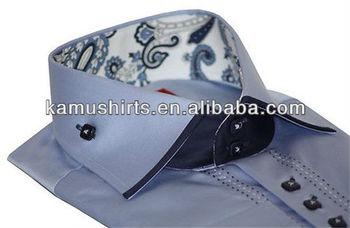 Overhemd Italiaans Design.Luxe Formele Casual Heren Overhemden Italiaans Design Overhemden Op