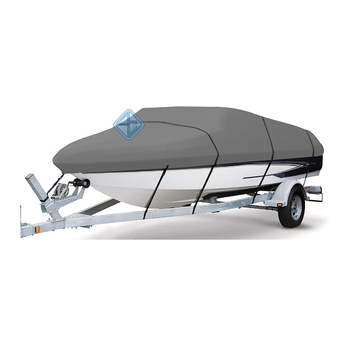 Heavy-Duty Boat Cover With Support Pole For V-Hull Runabouts
