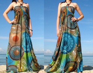 halter designs bohemian chiffon printed maxi women long elegant beach dress