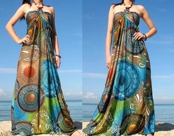 Long Chiffon Beach Dress