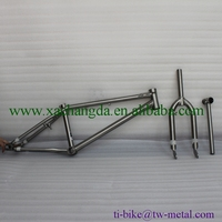 XACD Titanium BMX Bike Frame With Integrated Head Tube, Titanium Bmx Front Fork And Seat Post, Customized Titanium Bicycle BMX