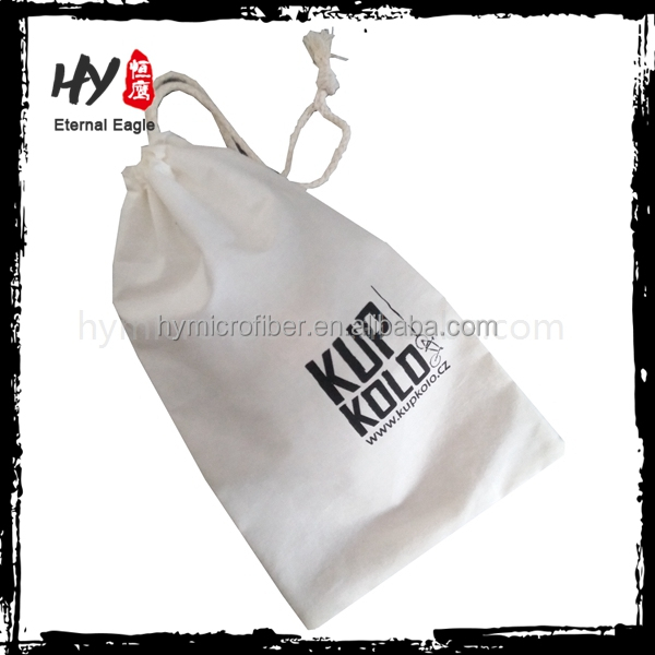 New design cheap canvas gift drawstring pouch