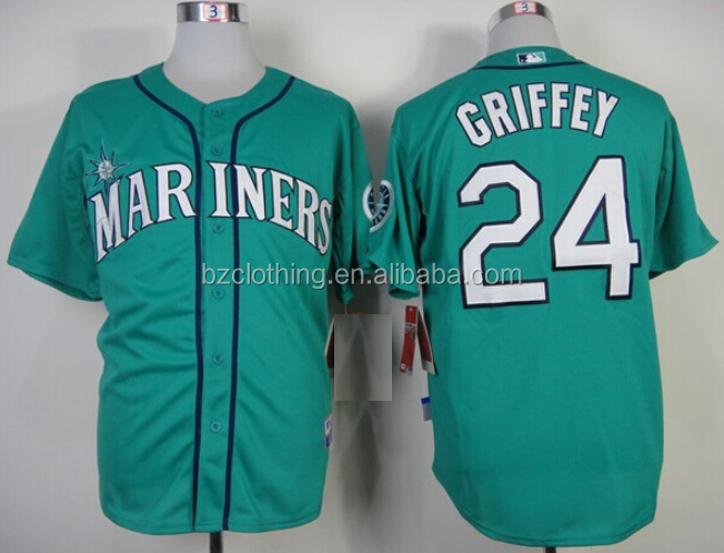 Men's Seattle Mariners Ken Griffey Jr. Green Baseball Jersey