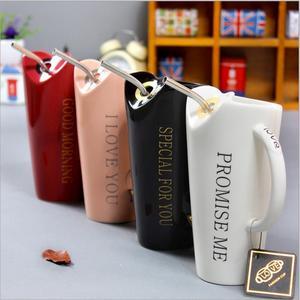 Coffee Cup Ceramic Travel Mug Sublimation With Straw Ceramic Coffee Mug