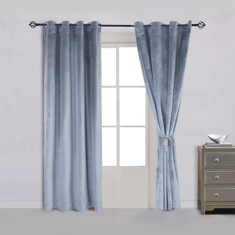 blackout velvet american style traditional curtain living room