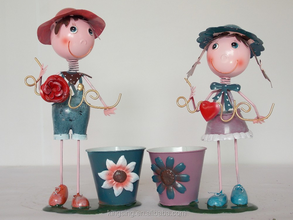 wholesale newest Iron dolls metal craft & gift of couple HK 196