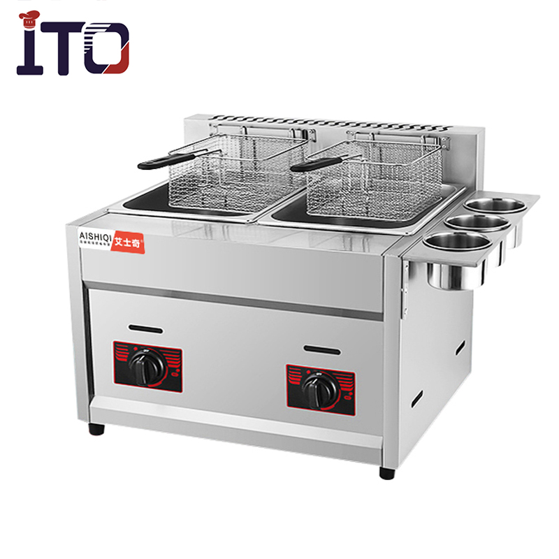 New LPG Gas Chips Fish Deep Fat Fryer