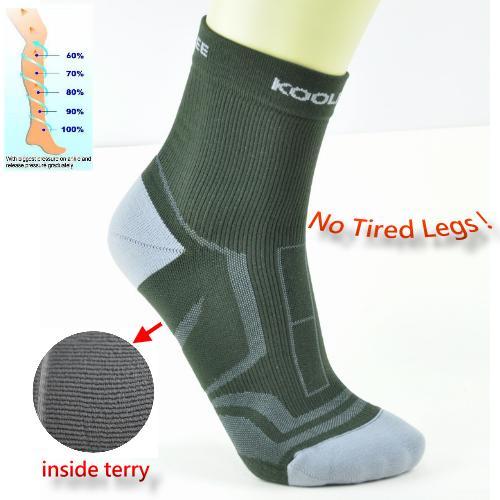 Jacquard Compression Golf/Hiking/Walking Man Terry Socks фото