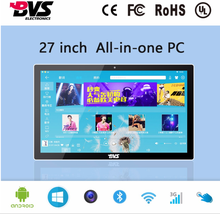 1080P 27 Inch LCD Capacitive Touch Screen monitor Android all in one pc for Commercial Display