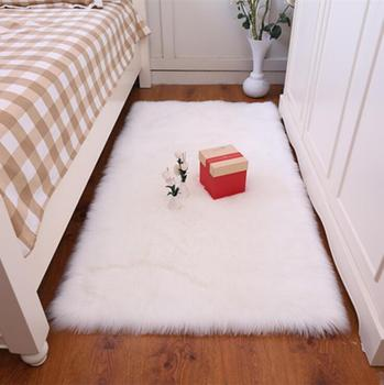 Cheap White Long Pile Shag Faux Fur Carpet