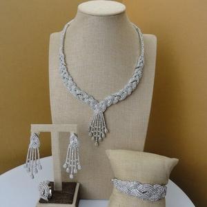 zircon jewelry set   pakistani gold jewelry sets  dubai gold jewelry set  FHK5262