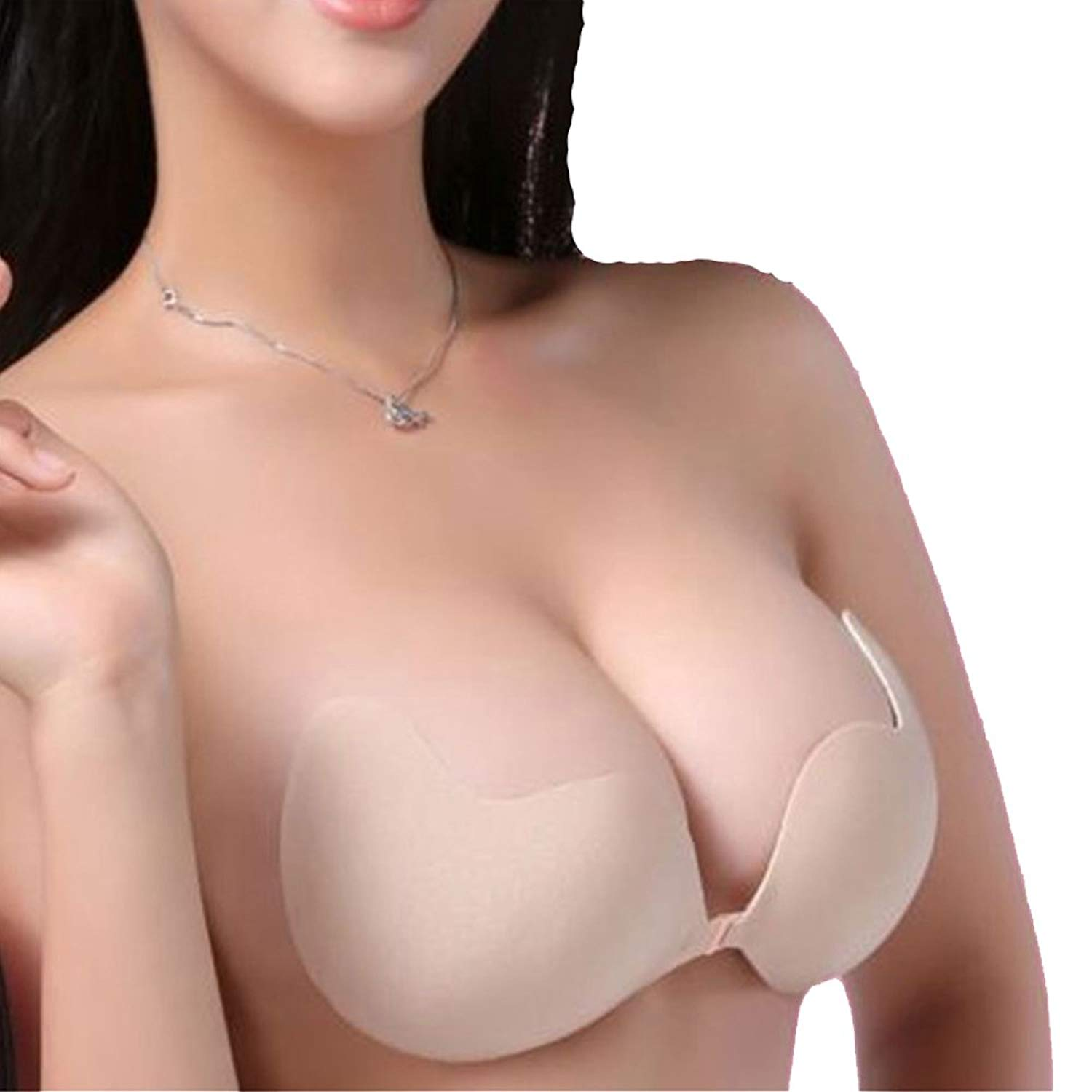 HIOFFER 2 Styles Push Up Bras Self-Adhesive Strapless Bra Invisible Sexy Brassiere Lingerie Backless Bralette for Women
