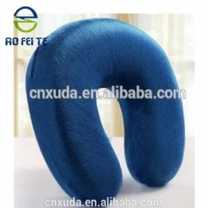 2017 plush U-shape memory foam neck pillow travel pillow 100% polyester neck support neck cushion