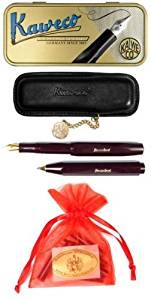 Kaweco Sport Classic Set Ballpoint / Fountain Pen B bordeaux + case & cartridges