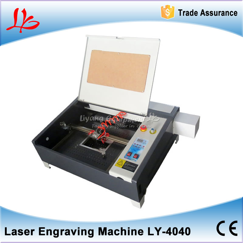 Latest MINI 2d 3d crystal laser engraving machine LY 4040 co2 50W Super quality with all functions